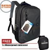 Jual Carboni Backpack Tas Ransel Laptop Mode Casual Urban Ra00043 15 Grey Original Raincover Carboni Ori