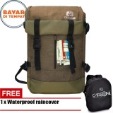 Review Carboni Backpack Outdoor Waterproop Tas Ransel Ra00040 40L Semi Tas Gunung Coffee Raincover Carboni