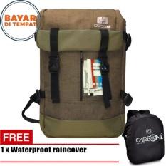 Carboni Backpack Outdoor Waterproop Tas Ransel RA00040 40L Semi Tas Gunung - Coffee + Raincover