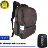 Jual Carboni Backpack Tas Ransel Punggung Nilon Mode Disain Kasual Fungsional Aa00026 15 Coffee Original Raincover Trendy Murah Dki Jakarta