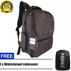 Beli Carboni Backpack Tas Ransel Punggung Nilon Mode Disain Kasual Fungsional Aa00026 15 Coffee Original Raincover Trendy Cicil