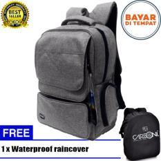 Beli Carboni Backpack Tas Ransel Punggung Nilon Mode Disain Kasual Fungsional Aa00026 15 Grey Original Raincover Trendy Online Murah
