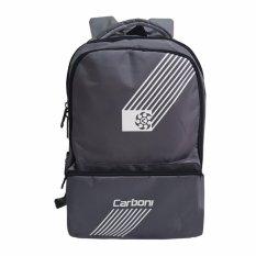 Spesifikasi Carboni Tas Ransel Distro Ra0050 Original Grey Raincover Bagus