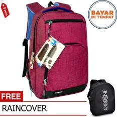 Carboni Tas Ransel Laptop 17 Inchi RA00013 Polyester Serat Sintetis Original  - Blue + Raincover 1a5f569f9e