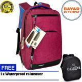 Carboni Tas Ransel Punggung Nilon Mode Korean Kasual Fungsional Ra00013 15 Red Original Raincover Trendy Carboni Murah Di Indonesia