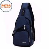 Jual Carboni Waistbag 2 In 1 Aa00023 10 Ransel Tali Satu Dan Ransel Tali Dua Blue Antik