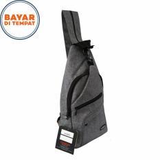 Beli Carboni Waistbag Ransel Tali Satu Aa00022 10 Dobel Fungsi Grey Murah