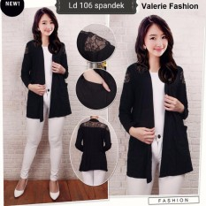 Cardigan Outer brukat Elegan 106 (khusus warna hitam) kardigan hitam fit size S to XXL