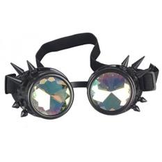 Perawatan Online Antik Steampunk Kacamata Olahraga & Kacamata Bling Lensa Pedesaan Goth Cosplay Pesta Paku Keling-Internasional
