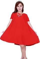 Jual Caristyle Short Sleeve Dress U3P39 Red