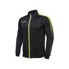 Carl AS Pakaian Latihan Baru Baju Sepak Bola Jaket N98 Pria Lengan Panjang (K077 Hitam Neon Kuning)