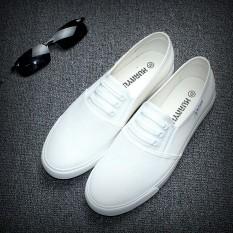 2016 model baru netral Carrefour putih Sepatu kanvas pria musim gugur Versi Santai Korea Orang Malas Sandal Summer mudah dipakai Pria sepatu lapisan tunggal