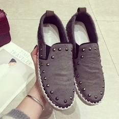 Carrefour Nyaman Musim Semi Dan Musim Gugur Baru Putaran Sepatu Wanita (Hijau Muda)