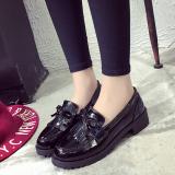 Harga Sepatu San Sepatu Korea Fashion Style Musim Gugur Baru Sepatu Kulit Kecil Modis Hitam Oem Terbaik