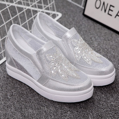 Jual Sepatu Santai Sepatu Wanita Korea Fashion Style Batu Kristal Air Sepatu Kasa Sepatu Golden Goose Perak Sepatu Wanita Sendal Wanita Murah Tiongkok