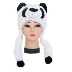 Diskon Gambar Kartun Berbentuk Hewan Anak Orang Dewasa Lembut Hangat Musim Dingin Mewah Kerudung Syal Topi Cap Panda Alat Penutup Telinga Vococal