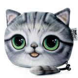 Toko Kartun Cat Zipper Desain Ladies Pengerjaan Change Purse Grey Intl Intl Unbranded