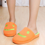 Toko Cartoon Plush Lover Smile Women Shoes House Home Floor Warm Slippers Soft Antiskid Winter Slipper Pantufas Shoes Orange Intl Murah Tiongkok
