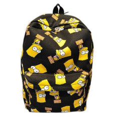 Spesifikasi Kartun Sch**l Shoulder Bag Simpson Printting Ransel Kanvas Untuk Girls Boys Hitam Baru
