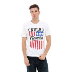 Beli Carvil A2 T Shirt Pria Putih Secara Angsuran