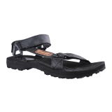 Carvil Alexander Gm Man Sandal Sponge Black Denim Asli