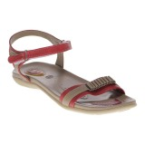 Harga Carvil Alya 01L Ladies Sandal Casual Red Termahal