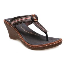 Beli Carvil Cloth 03L Casual Sandal Wanita Dark Brown Dengan Kartu Kredit