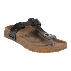 Model Carvil Ernest 01L Ladies Sandal Footbed Dk Brown Terbaru