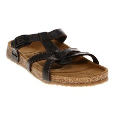 Carvil Ernest-03L Ladies Sandal Footbed - Dk Brown