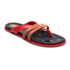 Miliki Segera Carvil Etios 03 Casual Sandal Wanita Merah Hitam