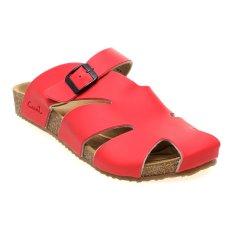 Harga Carvil Falkland 04 Footbed Sandal Pria Merah Termurah