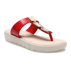 Spek Carvil Glazy 05L Casual Sandal Wanita Merah Carvil