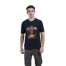 Spek Carvil Graph Men S T Shirt Hitam Jawa Barat