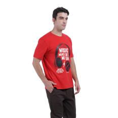 Jual Beli Carvil Graph Men S T Shirt Merah Jawa Timur