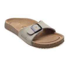 Model Carvil Khanza 01L Footbed Sandal Wanita Beige Terbaru