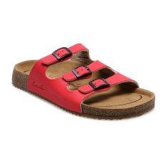 Toko Carvil Khanza 03L Footbed Sandal Wanita Merah Carvil Di Indonesia