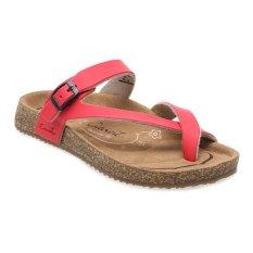 Jual Carvil Khanza 06L Footbed Sandal Wanita Merah Carvil Ori