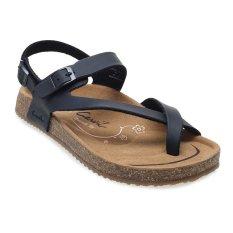 Harga Carvil Khanza 09L Footbed Sandal Wanita Hitam Asli