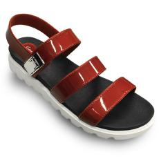CARVIL - LADIES SANDAL CASUAL AZKA-01 L BURGUNDY