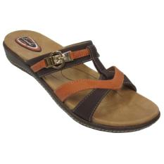 Jual Carvil Ladies Sandal Casual Hasten 03 L Dark Brown Baru