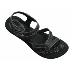 Carvil Ladies Sandal Sponge Janeta Black Carvil Murah Di Indonesia