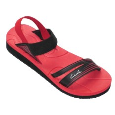 CARVIL -LADIES SANDAL SPONGE PALUPI RED/BLACK