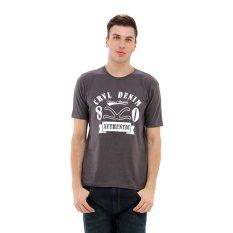 Iklan Carvil Logo 80 01 T Shirt Pria Dark Grey