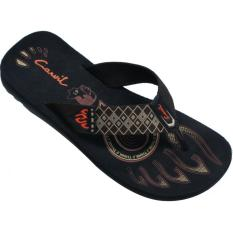 CARVIL -MAN SANDAL SPONGE STIGMA BLACK/BROWN