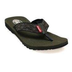 Spesifikasi Carvil Manama M Sponge Sandal Pria Hitam Olive Yang Bagus