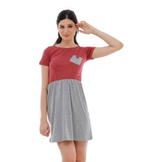 Harga Carvil Mira 02 Dress Red Misty Branded