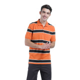 Jual Carvil Orenji Men S Polo Stripe Kombinasi Branded Murah