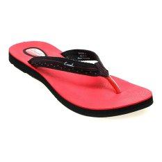 Harga Carvil Panera L Sponge Sandal Wanita Hitam Merah Termurah