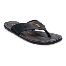 Harga Carvil Paulo 01 Sponge Sandal Pria Hitam Oranye Fullset Murah
