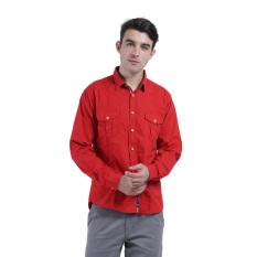 Diskon Produk Carvil Popplin Men S Shirt Red